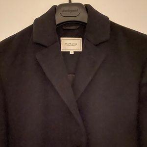 Frank & Oak Men's Black Wool Coat